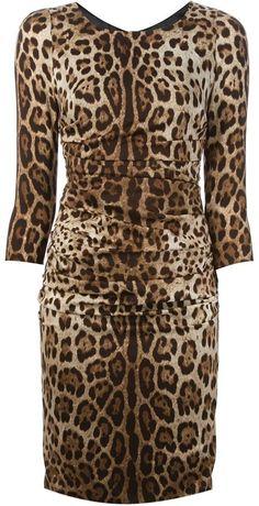 Dolce & Gabbana leopard print dress on shopstyle.com