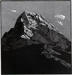 Annapurna South ~ Wood Engraving ~ Richard Wagener