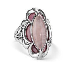 Carolyn Pollack Sterling Silver Rose Quartz Rhodonite Ring -- Check out the image by visiting the link.Note:It is affiliate link to Amazon.
