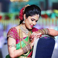 Bridal Blouse Designs, Saree Blouse Designs, Indian Bride Poses, Paco Rabanne Lady Million, Saree Wedding, Wedding Bride, Wedding Ideas, Indian Bridal Fashion, Bride Portrait