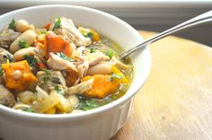 The Lazy Daisy Kitchen: cooking light, cooking right ~ fast chicken chili with butternut squash