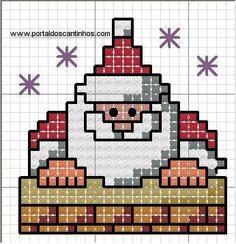 Santa Cross Stitch, Cross Stitch Cards, Cross Stitch Kits, Cross Stitching, Cross Stitch Embroidery, Cross Stitch Patterns, Christmas Knitting, Christmas Cross, Christmas Embroidery Patterns