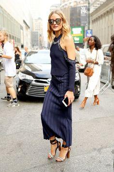 Olivia Palermo at Jonathan Simkhai SS17 NYFW show - September 2016 #StreetStyle