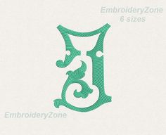 Antique monogram from old book J.Embroidery design. Alone monogram J. 6 sizes.Hoop 4x4 5x7 6x10. Font J. No alphabet Design made in the figure of the old book.  Use the design for embroidery on clothing, towels, gift pictures, pillows, kurtovich blankets, aprons for bottles, napkins, aprons for the kitchen and to create other Souvenirs. This will be a wonderful gift.  You MUST have an embroidery machine and the software needed to transfer it from your computer to the machine to use this…