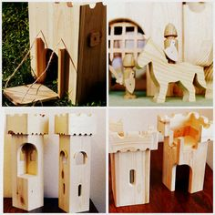 Wooden Castle Eco Kids Toy Doll House Wooden by EcoWoodyGoody