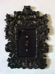 MASSIVE COLOR : Single Oversized Black Baroque Switch Frame