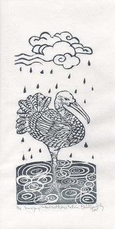 Shang Yang the Bird that Makes the Rain by the.minouette, via Flickr