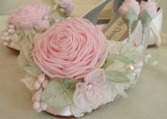 Pink Rose ShoesGarden Woodland Fairytale Bridal by AJuneBride
