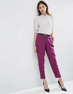 ASOS | ASOS Premium Slim Tailored Cigarette Trousers at ASOS