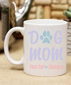 Stamp Out Online Dog Mom Personalized Mug | zulily