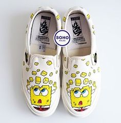 873dbc6122 SpongeBob SquarePants x Vans Vault Slip Ons - Size 3.5-12 - SHIPS NOW  ad   vans  spongebob