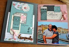 "Mini album""Souvenirs en couleurs"" de Cathyscrap+explic: 10-02-2016"