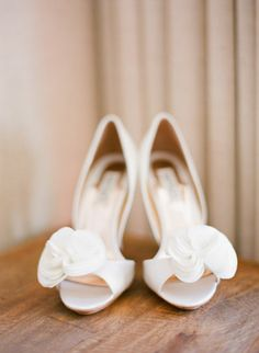 Ruffled shoes from Badgley Mischka | Photo by Austin Warnock