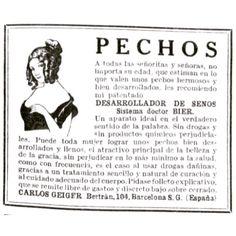Pechos  #1922 #argentina #buenosaires #vintage #ads #freelance #diseñoweb #tango