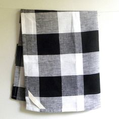 Merveilleux Black And White Plaid Dish Towels, Love!