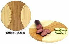 NCAA Wyoming Cowboys Homerun! Bamboo Cutting Board with Team Logo, 12-Inch by Picnic Time. $30.95. Great for game day. Bamboo is a renewable, sustainable resource. Picnic Time bamboo cutting board in a baseball design with engraved team logo. Measures 12 inches in diameter. May be used for cutting, slicing and serving. Perfect for parties on game day, the Homerun! cutting board from Picnic Time features an , two-toned bamboo construction with a baseball design and engraved...