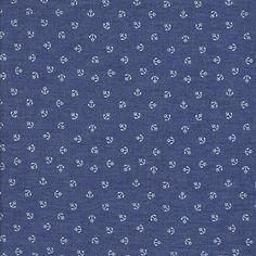 """Jeans """"Spencer"""" - denim mit kleinen Ankern // MYO STOFFE Online Shop für Patchworkstoffe, elastische Stoffe & mehr!"""