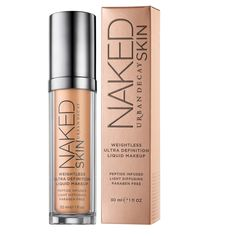 $38.00 Urban Decay's Naked Skin Foundation.  If you can't afford an airbrush machine, this is the closest I've come to the airbrush look in a bottle. Used with their Good Karma Optical Blurring brush, the look is perfection.