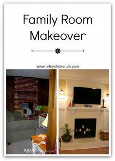 Hometalk :: Family Room Makeover, a New TV & a Level