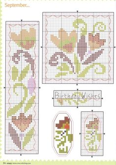 Birthday wishes flowers Gallery. Tiny Cross Stitch, Butterfly Cross Stitch, Cross Stitch Books, Cross Stitch Bookmarks, Cross Stitch Borders, Cross Stitch Flowers, Cross Stitch Designs, Cross Stitching, Cross Stitch Embroidery