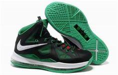 sale retailer 64a74 639c0 Nike Lebron 10 Green Black White Air Jordan, Jordan Shoes, Jordan 11, Cheap