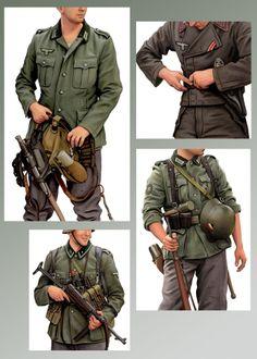 WW 2 Deutscher Landser und Panzergeneral