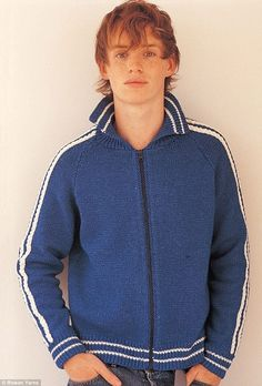 Knit this! Eddie started off modeling for a small knitting pattern company - this number is simply called Brooklyn