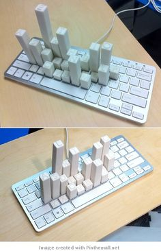 Keyboard Frequency Sculpture #infographic