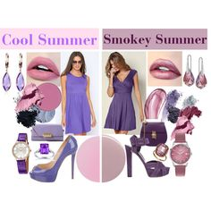 Cool Vs. Smokey Summer by prettyyourworld on Polyvore featuring мода, Venus, Christian Louboutin, Gucci, ZAC Zac Posen, Swarovski, Henry London, Hermès, Belk & Co. and Kobelli