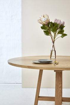 Loughlin Furniture Balmoral Table American Oak Timber Styled by Kara Demmrich Timber Table, Coastal Style, Simple, Room, Kara, Furniture, Tables, Design, American