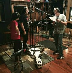 Max Foxx and Nicky Renard together with Caleb Johnson in the live room while he adds vocals on the new album. Rock N Roll, Rock Music, New Music, Caleb Johnson, Nashville Music, New Artists, Tennessee, Singer, Rock