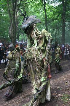 deviantART: More Like Treant Quad-stilt Costume Maquette by ~Earthenblood