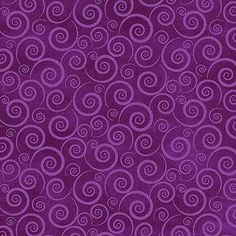 Baltimore Spring~Purple Swirls~Cotton Fabric by Red Rooster