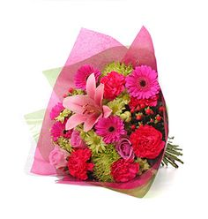 Shades of Pink & Green Bouquet  - £47.99