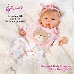 19 inch Realistic & Lifelike Baby Doll, Happy Teddy, Baby Soft GentleTouch Vinyl #ParadiseGalleries #BabyDoll