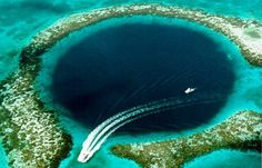 Dykking i The Blue Hole, Belize