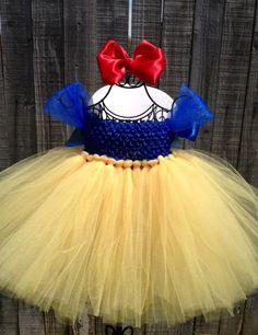 Disney Inspired Snow White Tutu Costume - Size 6M - 4T by TutuliciousDivas on Etsy