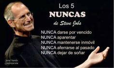Frases motivadoras y de autosuperación por  Steve Jobs | Imágenes para Imprimir