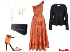Robe cérémonie en wax | Idée de look Pagnifik – Robe longue Sika Designs