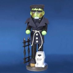 Steinbach SIGNED Frankenstein Monster German Halloween Christmas Nutcracker New #Steinbach