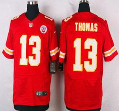 Kansas City Chiefs Jersey 13 De'Anthony Thomas Red Team Color NFL Nike Elite Jerseys