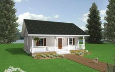 Cottage Plan: 1,097 Square Feet, 2 Bedrooms, 1 Bathroom - 1776-00005