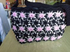 Hey, I found this really awesome Etsy listing at https://www.etsy.com/listing/180418330/pink-and-black-poptab-purse