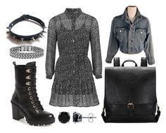 """out of the covent"" by williewalksintoabar ❤ liked on Polyvore featuring GUESS, Topshop, BERRICLE and WithChic"