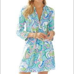 Lilly Pulitzer Sarasota Tunic Dress This is a brand new, Lilly dress in the print Conch Republic. It is super flattering, perfect for summer, and great colors. NWT! Lilly Pulitzer Dresses