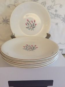 "WEDGWOOD & CO  PINK HOPE 6-6 5/8 "" SALAD ENGLAND FLORAL BUDS CHINA UNICORN GOLD"