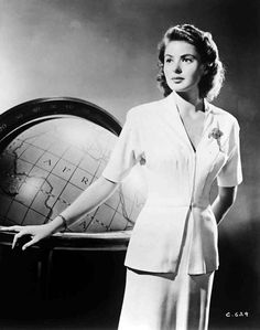 orry kelly gowns | Ingrid Bergman- Hollywood Legend-40s Style Icon | Vintage Style Files