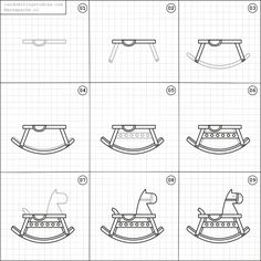 How to draw a rocking horse.
