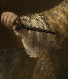 Detail from Lucretia by Rembrandt van Rijn 1664 oil on canvas National Gallery of Art, Washington, D.C.