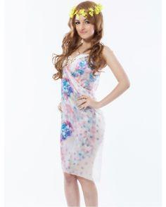 Floral White Fashion Sarong